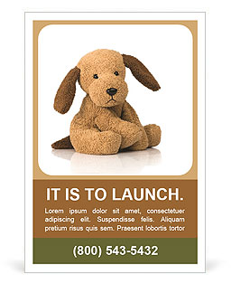 Dog toy Ad Template
