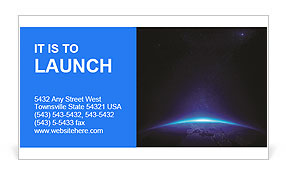 Earth at night with city lights on a black background Business Card Template