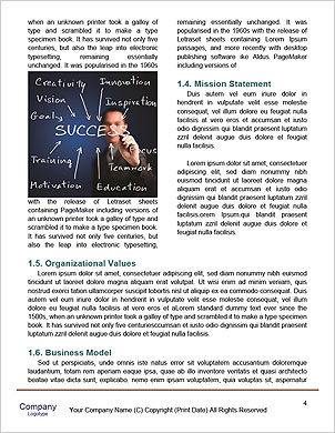 Business man writing diagram of centralization Word Template - Page 4