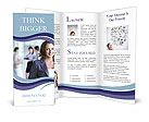 Image of pretty businesswoman Brochure Template