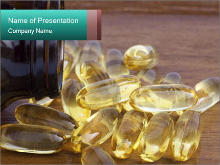 Salmon Oil or Evening Primrose PowerPoint sunum şablonları