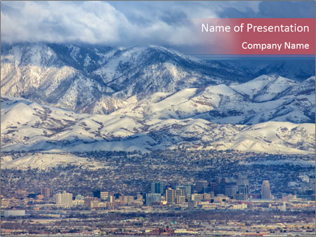 Salt Lake City Utah USA PowerPoint Template