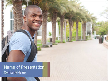 American college student PowerPoint Template