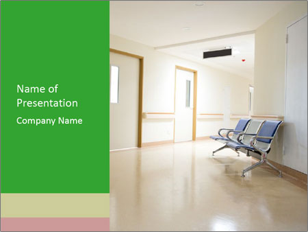 Chairs In The Hospital Powerpoint Template Infographics Slides