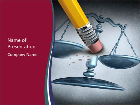 Injustice And Discrimination As A Concept For Breaking The Law Powerpoint Template Infographics Slides