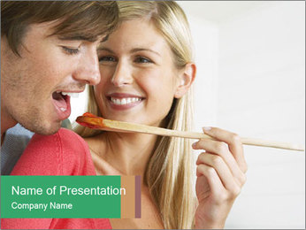 Couple Cooking Together Шаблоны презентаций PowerPoint