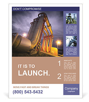 Large pipes Poster Template