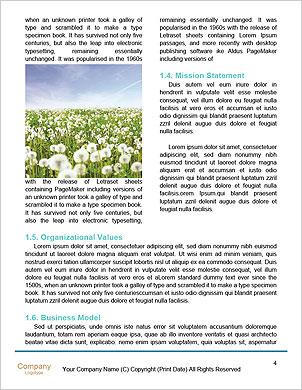 Dandelion on blue background Word Template - Page 4