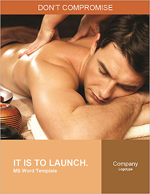 Masseuse does massage in the spa salon Word Template - Page 1