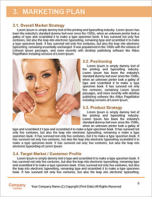 Masseuse does massage in the spa salon Word Template - Page 8