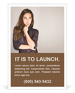 Portrait of an attractive fashionable young brunette woman Ad Template