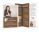 Portrait of an attractive fashionable young brunette woman Brochure Template