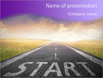 Concept of start straight for business PowerPoint Template