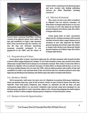 Concept of start straight for business Word Template - Page 4
