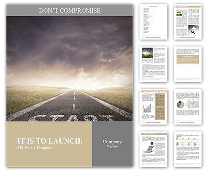 Concept of start straight for business Word Template