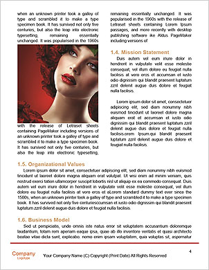 Beauty Woman with Perfect Makeup. Beautiful Professional Holiday Make-up. Red Lips and Nails. Beauty Word Template - Page 4