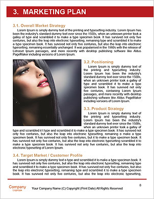Beauty Woman with Perfect Makeup. Beautiful Professional Holiday Make-up. Red Lips and Nails. Beauty Word Template - Page 8