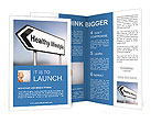 Illustration depicting a sign post with directional arrow containing a healthy lifestyle concept. Bl Brochure Template