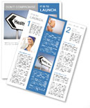Illustration depicting a sign post with directional arrow containing a healthy lifestyle concept. Bl Newsletter Template
