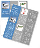 Illustration depicting a sign post with directional arrow containing a help and support concept. Blu Newsletter Template