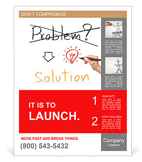 Idea or innovation change problem to solution concept written by business hand Poster Template