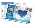 Heart on the sky Postcard Template