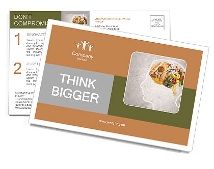 Food for thought Postcard Template