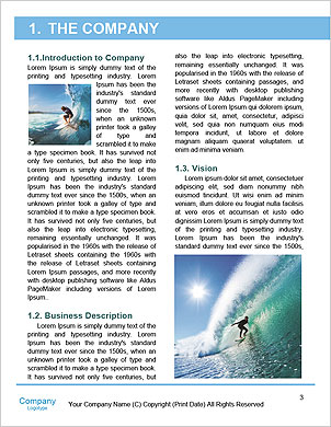 Surfer on Blue Ocean Wave in the Tube Getting Barreled Word Template - Page 3