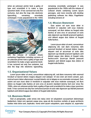 Surfer on Blue Ocean Wave in the Tube Getting Barreled Word Template - Page 4