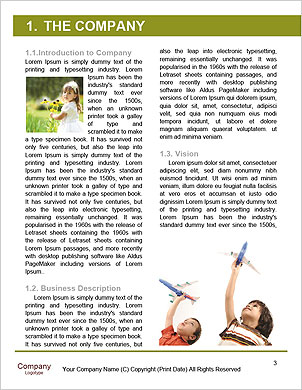 Teenager girl holding a green paper plane Word Template - Page 3