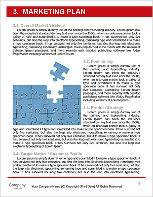 Conception is business of connections, teamwork and cooperation. 3d illustration Word Template - Page 8