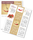 Red hot chili pepper pinned on a fork Newsletter Template