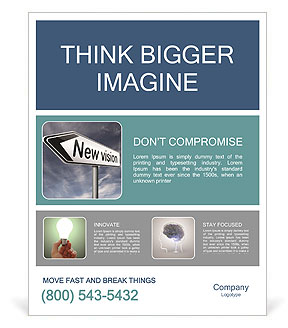 New vision innovation and brigth new brilliant idea or invention other point of view Poster Template