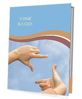 Hand composed capture frame up to the sky under blue sky Presentation Folder