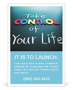 Prendi il controllo della tua concetto di vita, parole colorate sulla lavagna I pattern per gli annunci pubblicitari