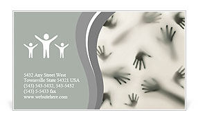 Frightening silhouette of many different hands Business Card Template