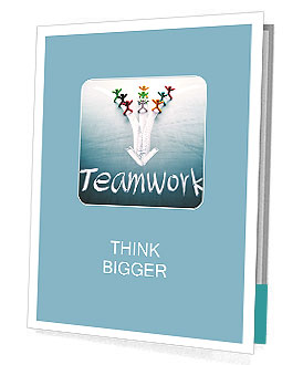 Teamwork concept, group of people with the same goal Presentation Folder