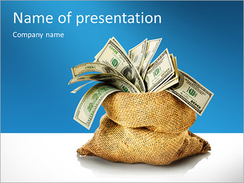 Money in the bag isolated on a white background PowerPoint Template