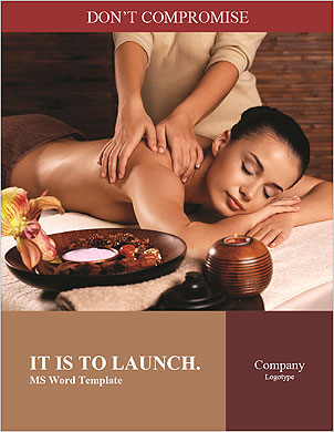Masseur doing massage on woman body in the spa salon. Beauty treatment concept. Word Template - Page 1