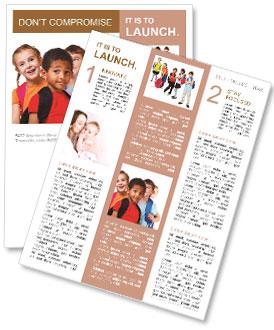 Kids ready back to school Newsletter Template