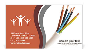 Closeup Of A Electric Cable On A White Background Business Card Template Design Id 0000009357 Smiletemplates Com