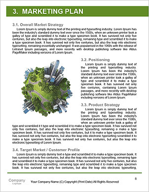 Conceptual miniature planet for environmental change and green energy transportation isolated and wi Word Template - Page 8