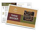 Old rusty typewriter Postcard Template