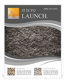 Stone surface texture Flyer Template