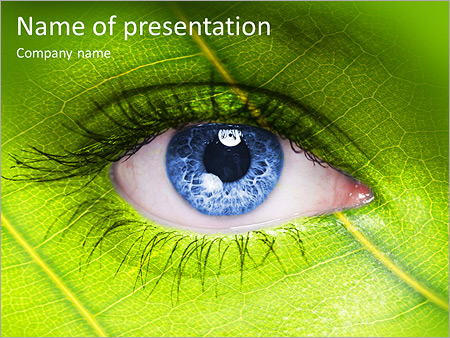 Face with leaf texture PowerPoint Template