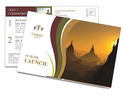 日出的古代蒲甘,缅甸 明信片
