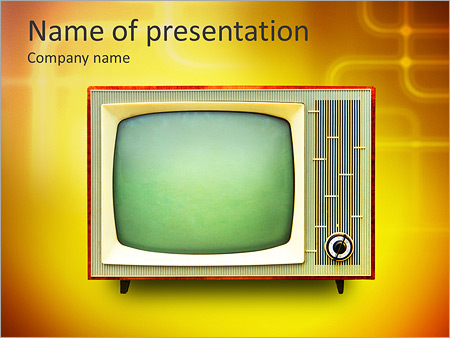 Vintage TV set isolated. Clipping path included. PowerPoint Template