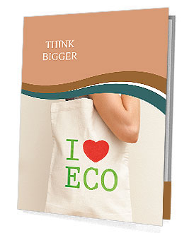 "Big flax eco bag ""I love eco"" Presentation Folder"