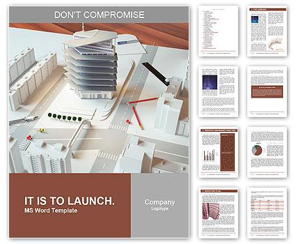 一个现代建筑的建筑模型 语言模板