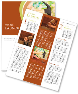 Builder hammering nails into board on natural background Newsletter Template